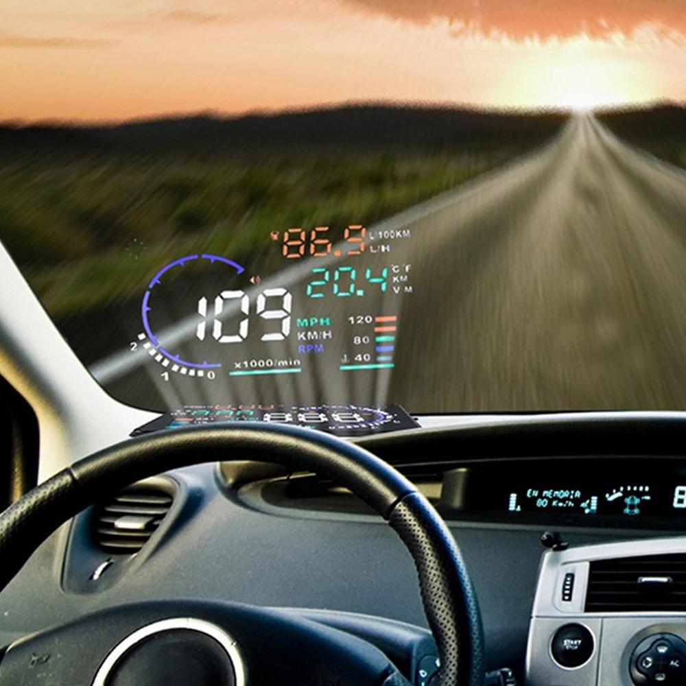 Car Head Up Display with OBD2 EUOBD Interface Speeding Warning