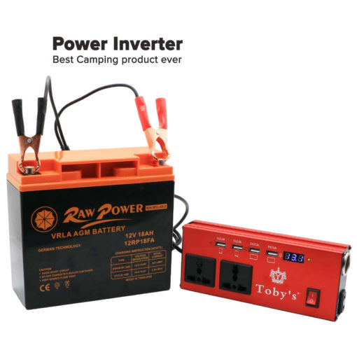 18a Rechargeable Battery With Inverter 12v 220v 18a Battery For Camping